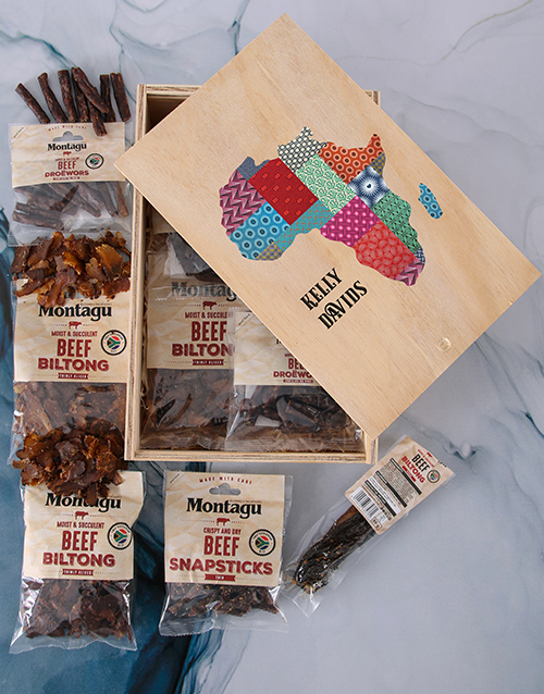 fathers-day: Personalised Taste Of Africa Biltong Crate!