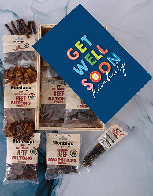 gifts: Personalised Get Well Biltong Crate!