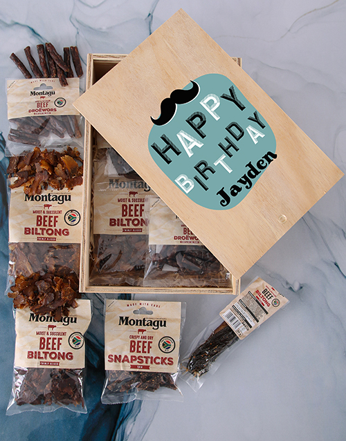 birthday: Personalised Biltong Birthday Crate!