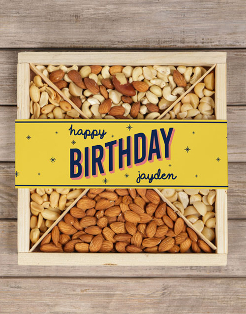 gourmet: Personalised Twinkling Birthday Nut Crate!