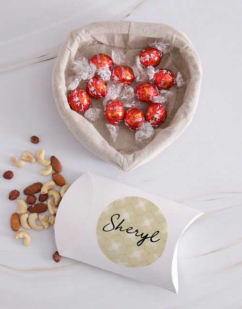 gourmet: Personalised Choc And Nut Basket!