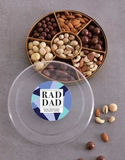 gourmet: Personalised Rad Dad Nut Tray!