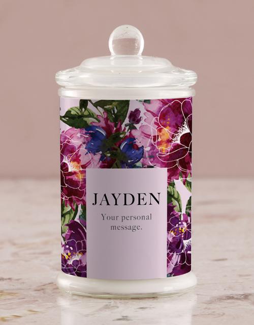 birthday: Personalised Purple Peony Candle Jar!
