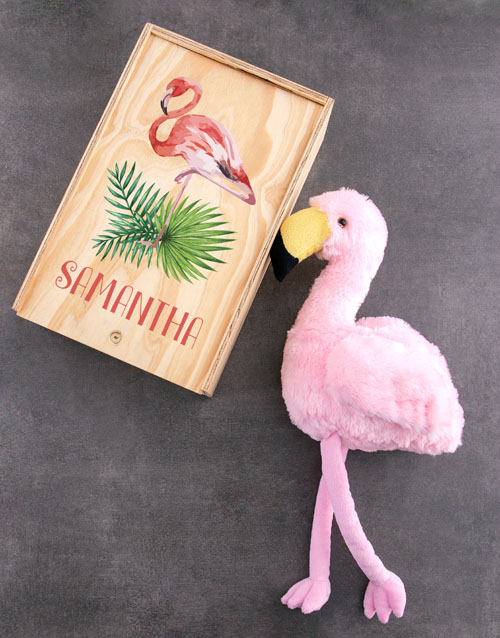 teddy-bears: Personalised Fluffy Flamingo Crate!