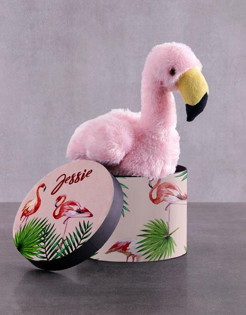 teddy-bears: Personalised Fluffy Flamingo Choc Hat Box!