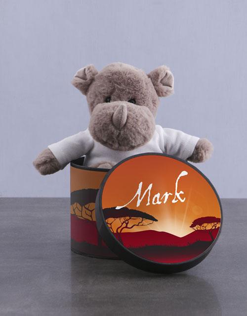 teddy-bears: Personalised Rhino Hat Box!