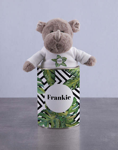 teddy-bears: Personalised Rhino Tin!