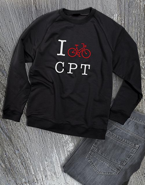 personalised: Personalised Love Cycling Ladies Sweatshirt!