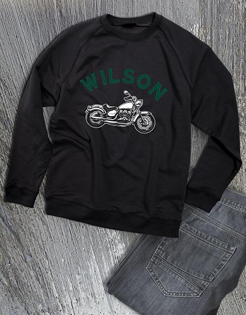 clothing: Personalised Motorcycle Club Sweatshirt!