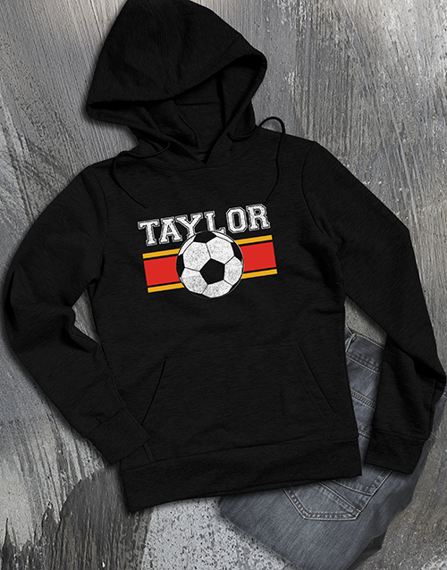clothing: Personalised Soccer Ball Hoodie!