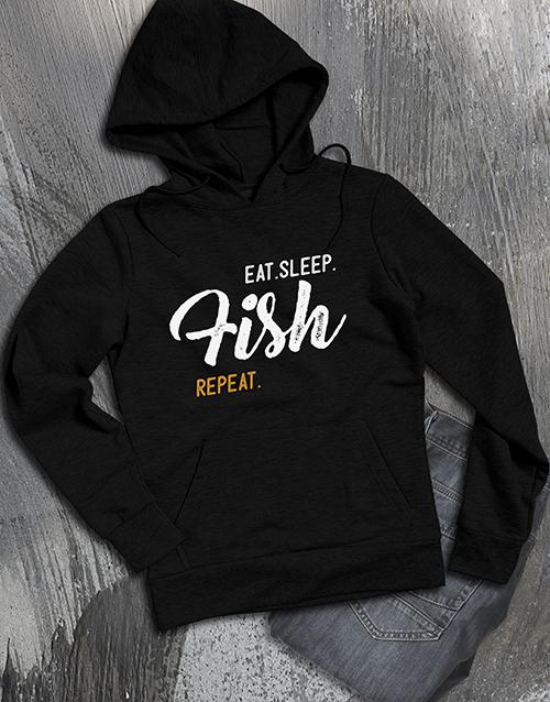 clothing: Personalised Eat Sleep Repeat Hoodie!