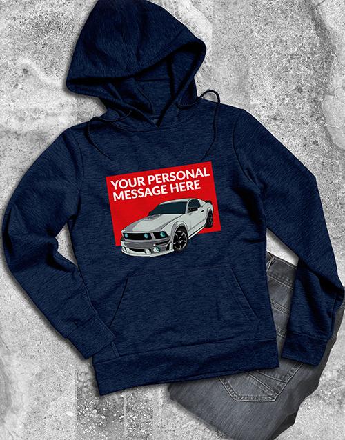 personalised: Personalised Sports Car Hoodie!