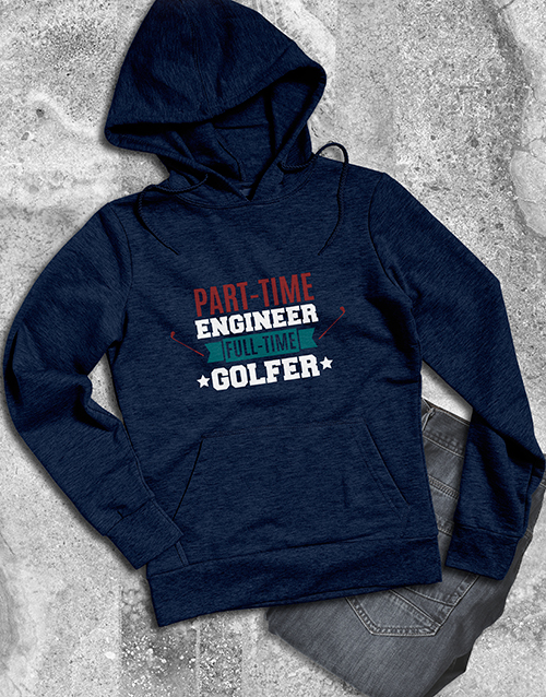 clothing: Personalised Full Time Golfer Hoodie!