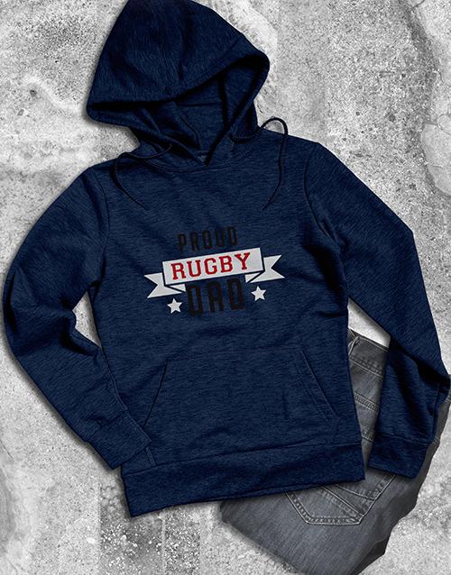 personalised: Personalised Proud Rugby Dad Hoodie!