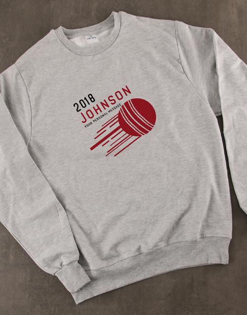 personalised: Personalised Cricket Sweatshirt!
