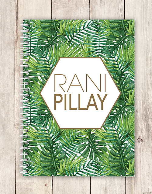 mothers-day: Personalised Fern Leaf Notebook!