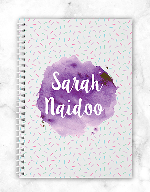 mothers-day: Personalised Watercolour Notebook!