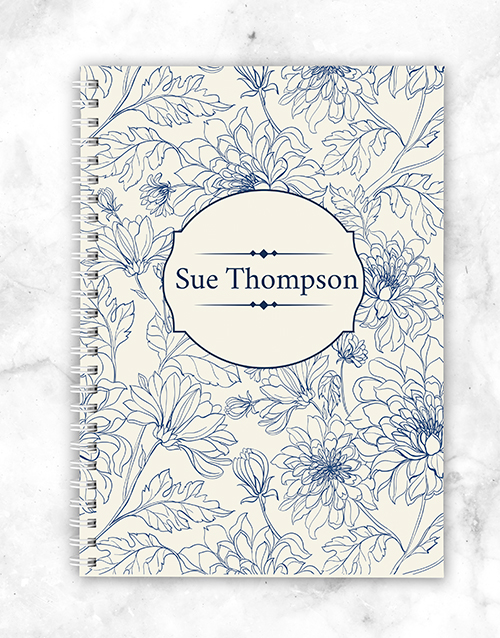personalised: Personalised Floral Notebook!