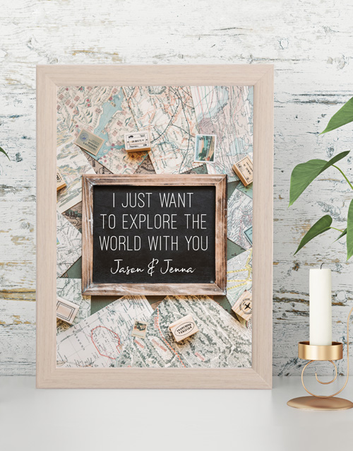 personalised: Personalised Exlplore With You Framed Wall Art!