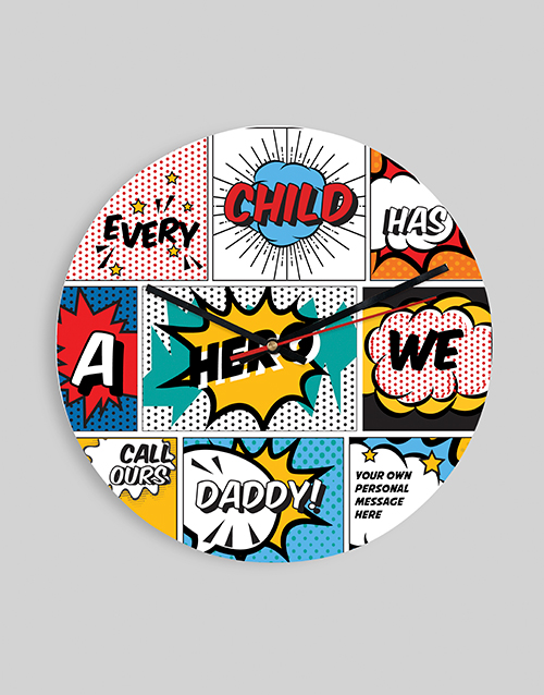 personalised: Personalised Comic Clock!