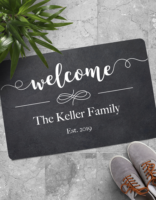 personalised: Personalised Welcome Family Est Doormat!