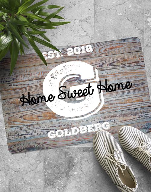 personalised: Personalised Home Sweet Home Doormat!