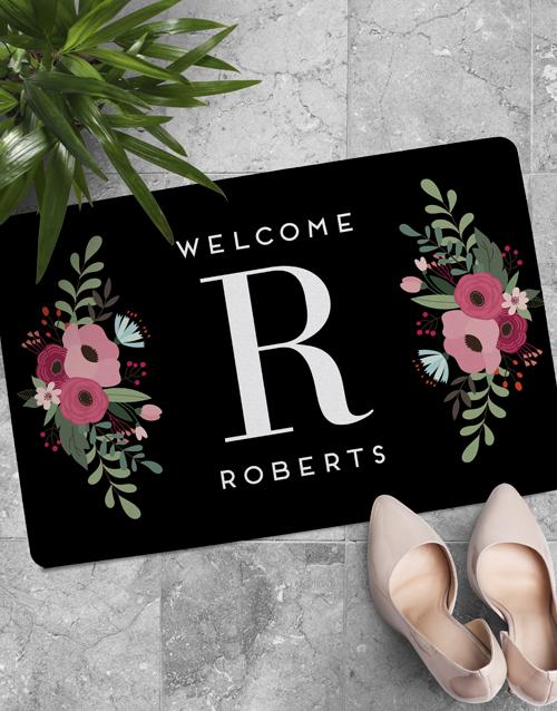 personalised: Personalised Floral Monogram Doormat!