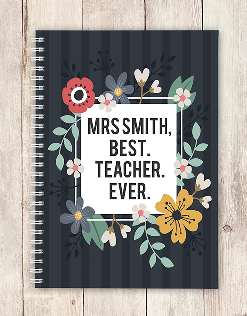 teachers-day: Personalised Best Teacher Notebook!