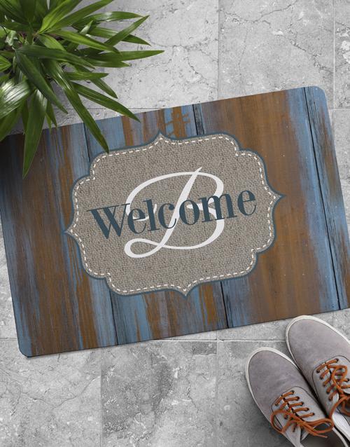 home-decor: Personalised Wooden Look Doormat!
