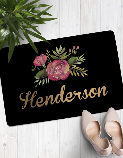 personalised: Personalised Floral Family Name Doormat!