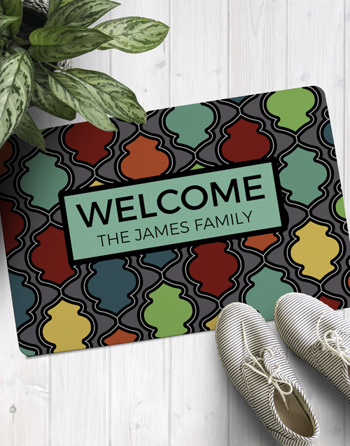 personalised: Personalised Colourful Family Doormat!