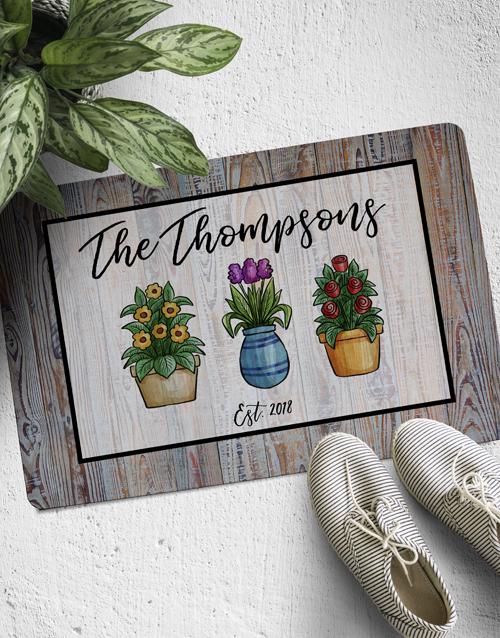 personalised: Personalised Pot Plant Doormat!