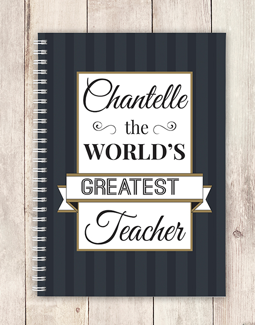 personalised: Personalised Chic Greatest Teacher Notebook!