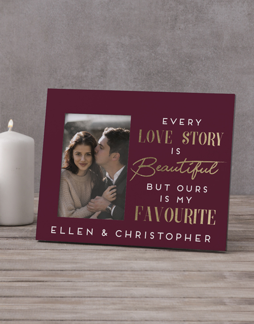 home-decor: Personalised Every Love Story Photo Frame!