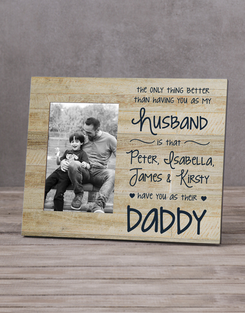 home-decor: Personalised Husband Daddy Photo Frame!