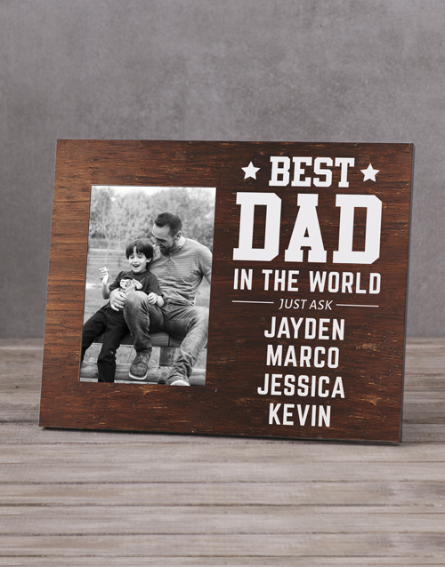 get-well: Personalised Best Dad In The World Photo Frame!