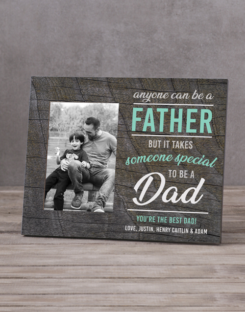 home-decor: Personalised Anyone Can Be A Father Photo Frame!