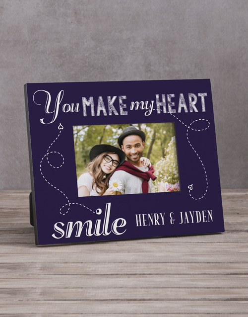 home-decor: Personalised You Make My Heart Photo Frame!