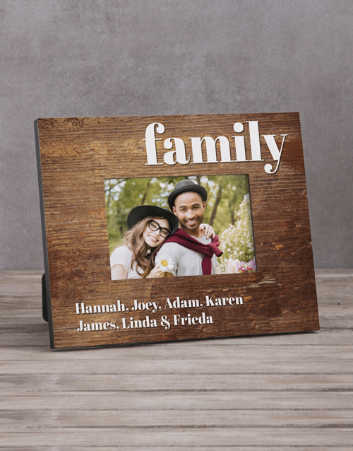 home-decor: Personalised Family Names Photo Frame!