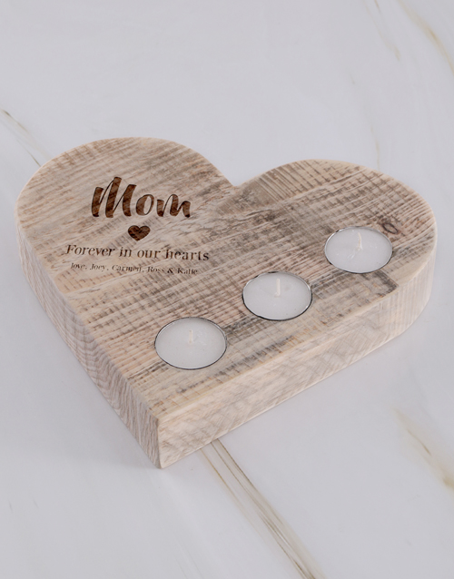 mothers-day: Personalised Mom Forever Heart Candle Holder!