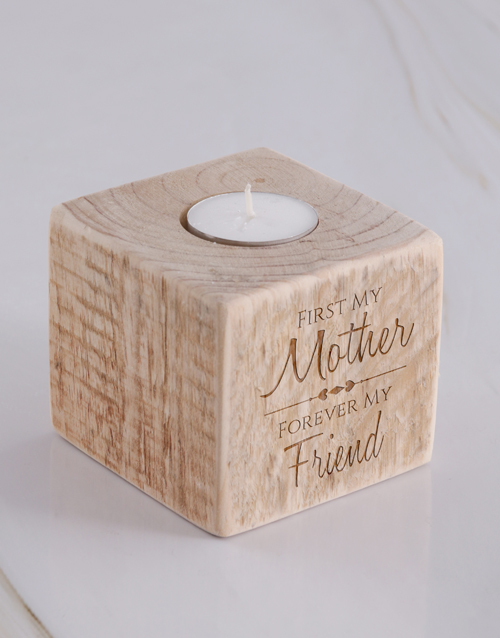 mothers-day: Personalised Mother Square Candle Holder!