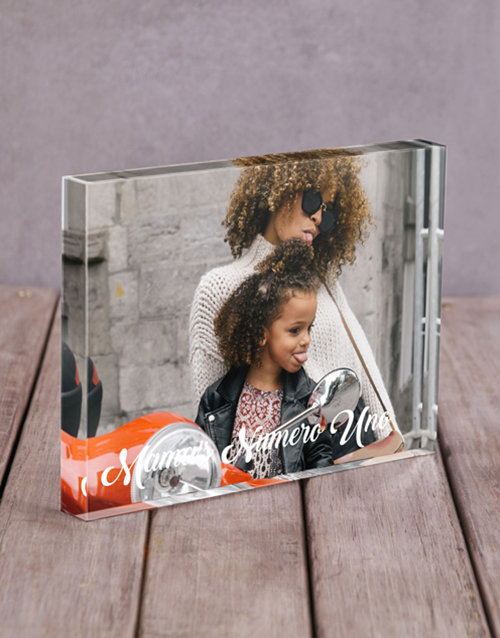 mothers-day: Personalised Mamas Numero Uno Acrylic Block!