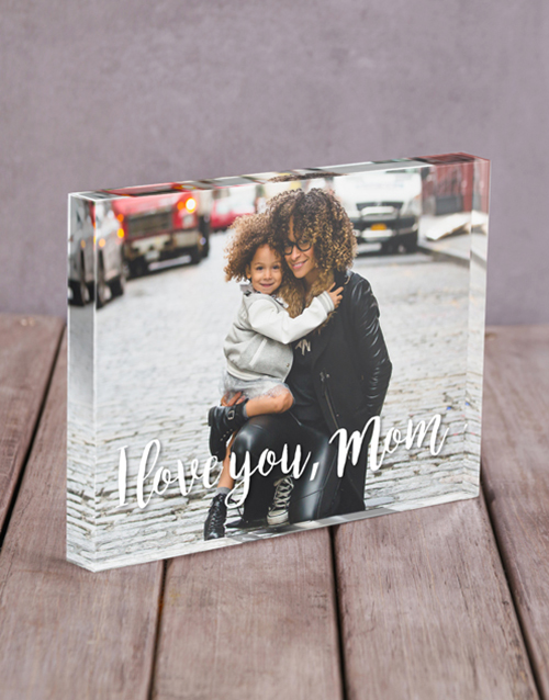 mothers-day: Personalised I Love You Mom Acrylic Block!