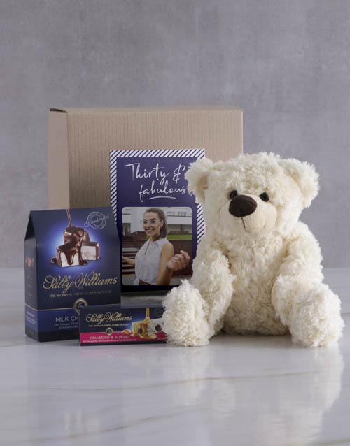 teddy-bears: Personalised Birthday Teddy and Nougat Gift!