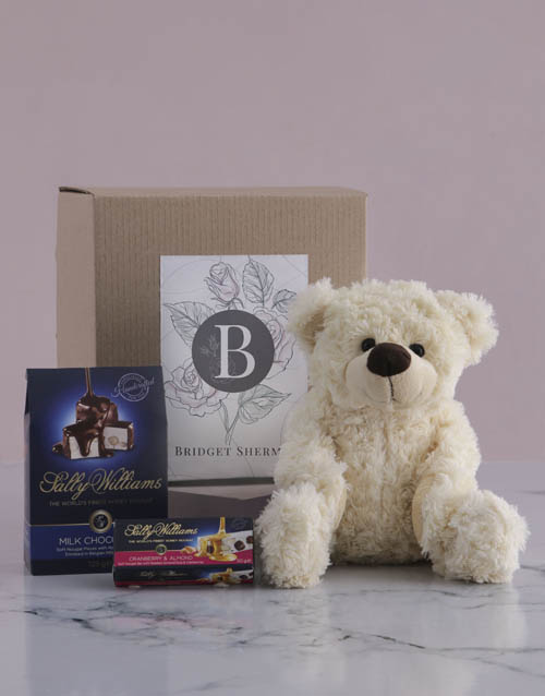 mothers-day: Personalised Teddy and Nougat Gift!