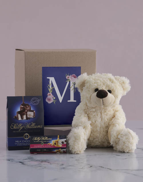 mothers-day: Personalised Teddy and Nougat Initialised Gift!