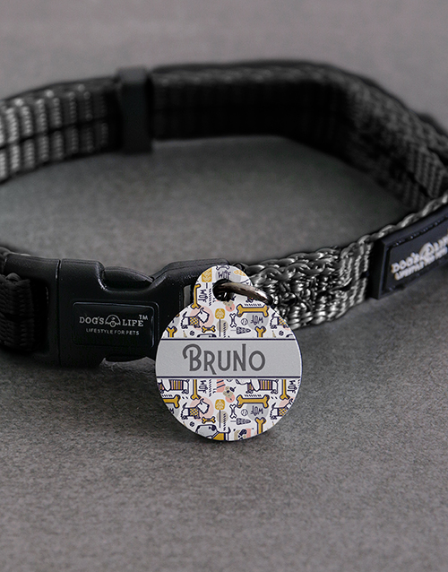 pets: Personalised Bone ID Tag and Collar!