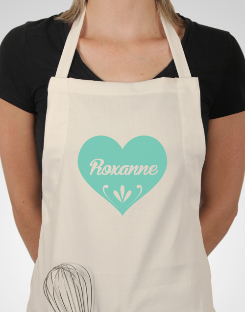 personalised: Personalised Heart Apron!