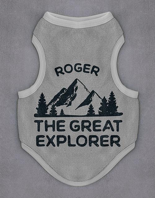 get-well: Personalised Explorer Dog Fleece Jersey!