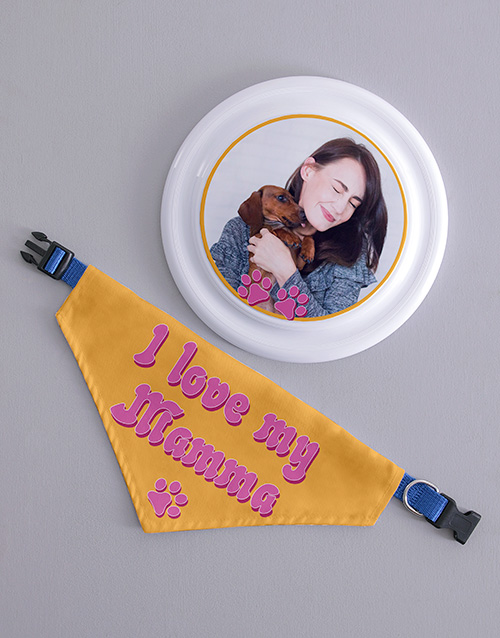 personalised: Personalised My Mamma Frisbee and Bandanna!